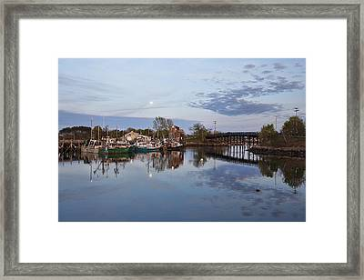 Moon Over Pierce Island Framed Print