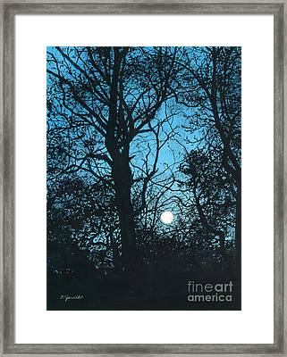 Moon Over Pittsburgh Framed Print by Barbara Jewell