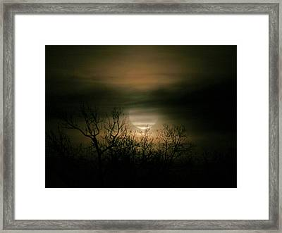 Moon Over Prince George Framed Print by Karen Harrison