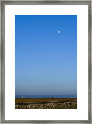 Moon Over Red Fields Framed Print by Alan Tonnesen