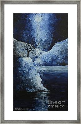 Moon Over Framed Print by Roni Ruth Palmer