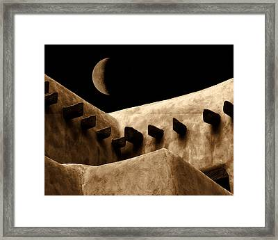 Moon Over Santa Fe Framed Print