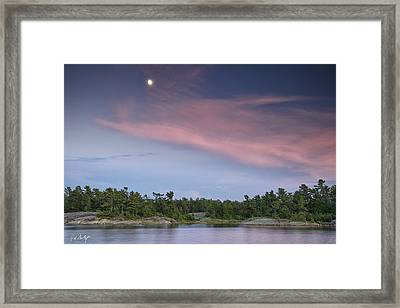 Moon Over The Bay Framed Print by Phill Doherty