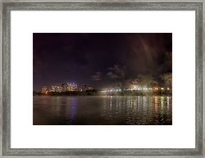 Moon Over The Bridge Framed Print by Metro DC Photography
