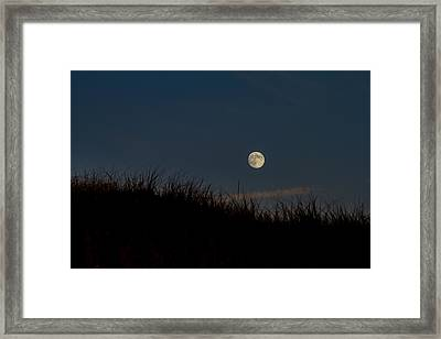Moon Over The Dunes Framed Print