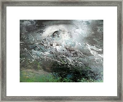 Moon Over The Mountains Framed Print