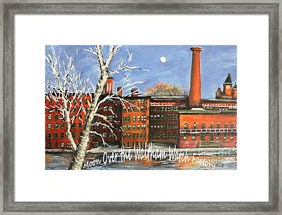 Moon Over Waltham Watch Framed Print