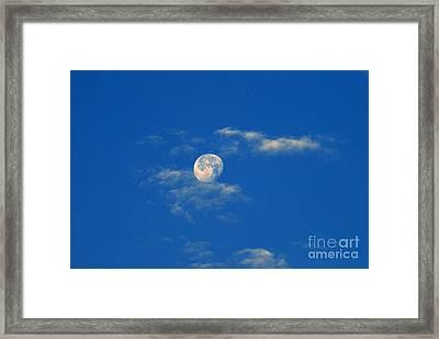 Moon Over Washington Dc Framed Print