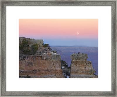 Moon Over Yaki Point  Framed Print by Tim Fitzharris