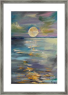 Moon Over Your Town/reflexion Framed Print by PainterArtist FIN