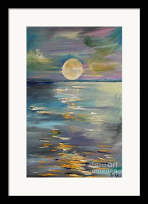 Planetoid Paintings Framed Prints