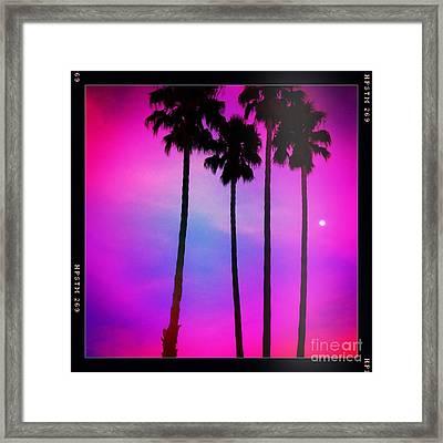 Moon Palms Framed Print