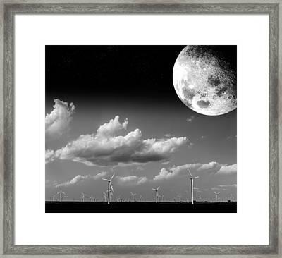 Moon Power Framed Print