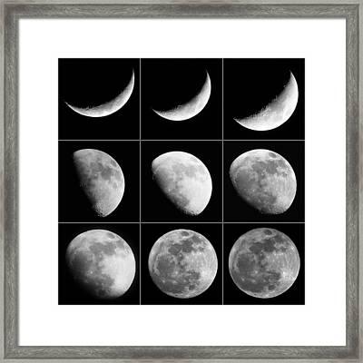 Moon Progression Framed Print