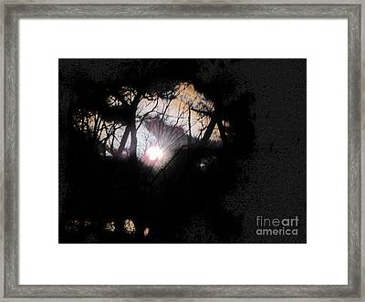 Moon Rays Framed Print by Sharon Costa