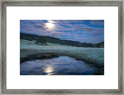 Moon Reflection Before Sunrise Framed Print by Marc Crumpler