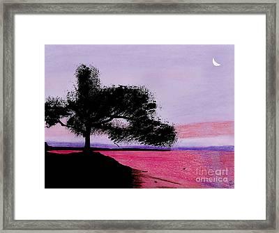 Moon Rise Framed Print by D Hackett