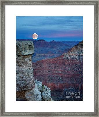 Moon Rise Grand Canyon Framed Print