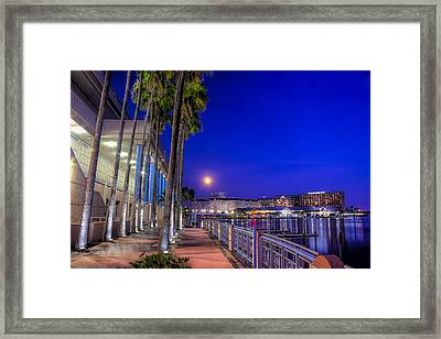 Moon Rise Over Harbor Island Framed Print by Marvin Spates