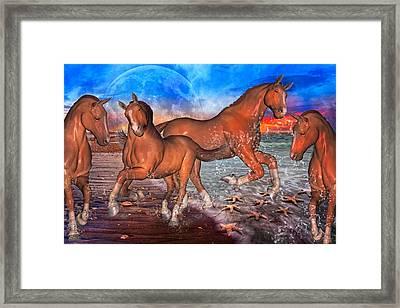 Moon Rise Splendor Framed Print