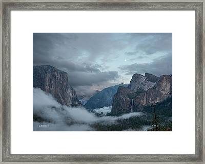 Moon Rise Yosemite Framed Print