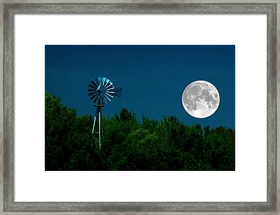Moon Risen Framed Print