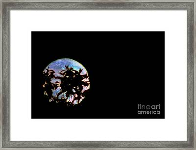 Framed Print featuring the photograph Moon Rising by Leslie Hunziker