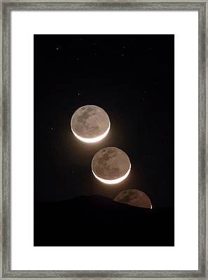 Moon Rising Of The Atacama Desert Framed Print by Babak Tafreshi