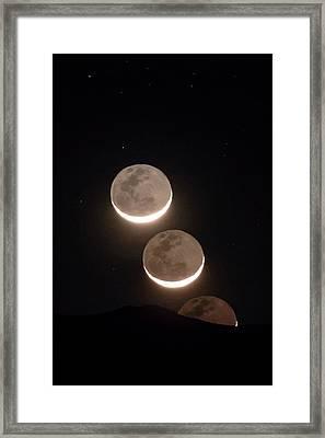 Moon Rising Of The Atacama Desert Framed Print