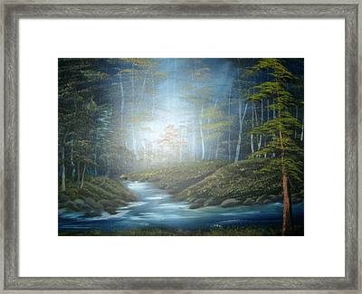 Moon River Mystery Framed Print