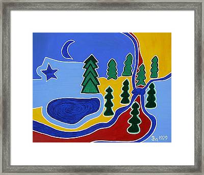 Moon River Tyes Framed Print