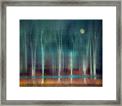 Moon River Framed Print by William Schmid