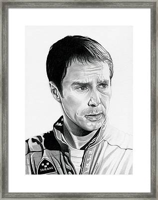 Moon  Sam Rockwell Framed Print by Fred Larucci