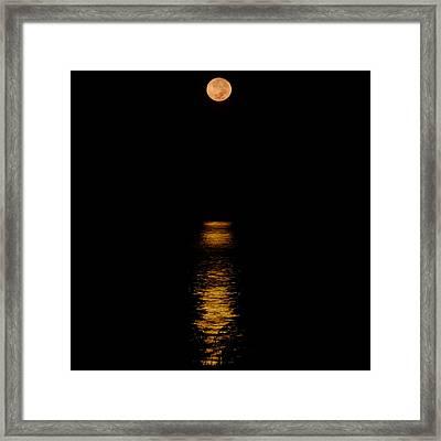 Moon Set Anna Maria Island Framed Print