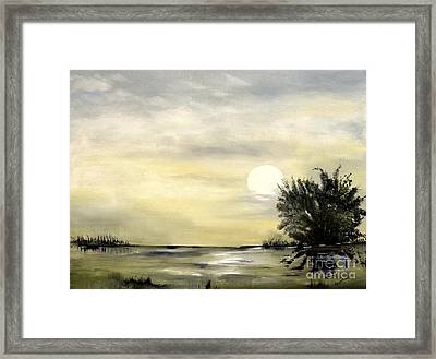 Framed Print featuring the painting Moon Shadow by Carol Sweetwood
