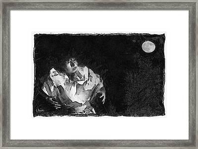 Moon Shadow Framed Print by George Rossidis