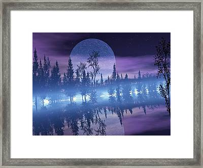 Moon Shadow Framed Print