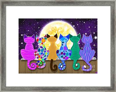 Moon Shadow Meow Framed Print
