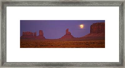 Moon Shining Over Rock Formations Framed Print by Panoramic Images