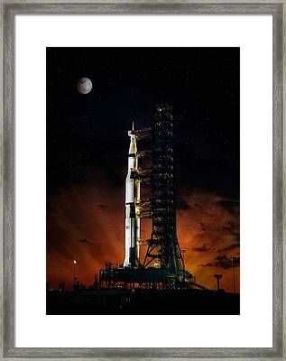 Moon Shot Framed Print by Peter Chilelli