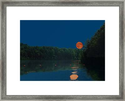 Framed Print featuring the photograph Moon Shot by R B Harper