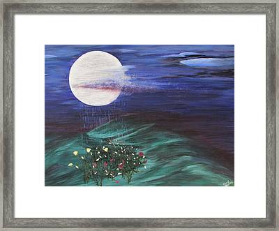 Moon Showers Framed Print by Cheryl Bailey