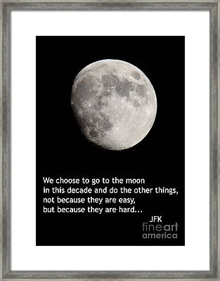 Moon Speech Framed Print