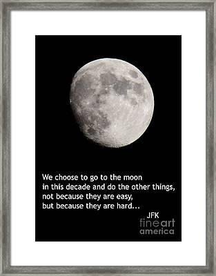 Moon Speech Framed Print by Kenny Glotfelty