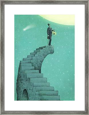 Moon Steps Framed Print