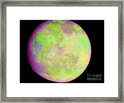 Framed Print featuring the photograph Moon - Super Moon by Susan Carella