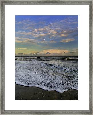 Moon Surf Framed Print