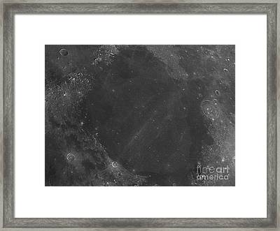 Moon Surface With Sea Of Serenity Framed Print