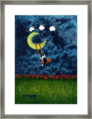 Moon Swing Framed Print by Todd Young
