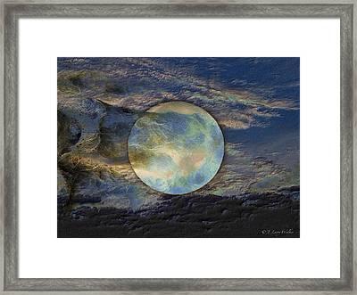 Moon Theatrics Framed Print by J Larry Walker